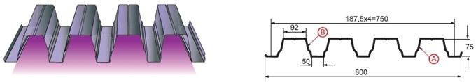 Профилированный лист Н-75х750